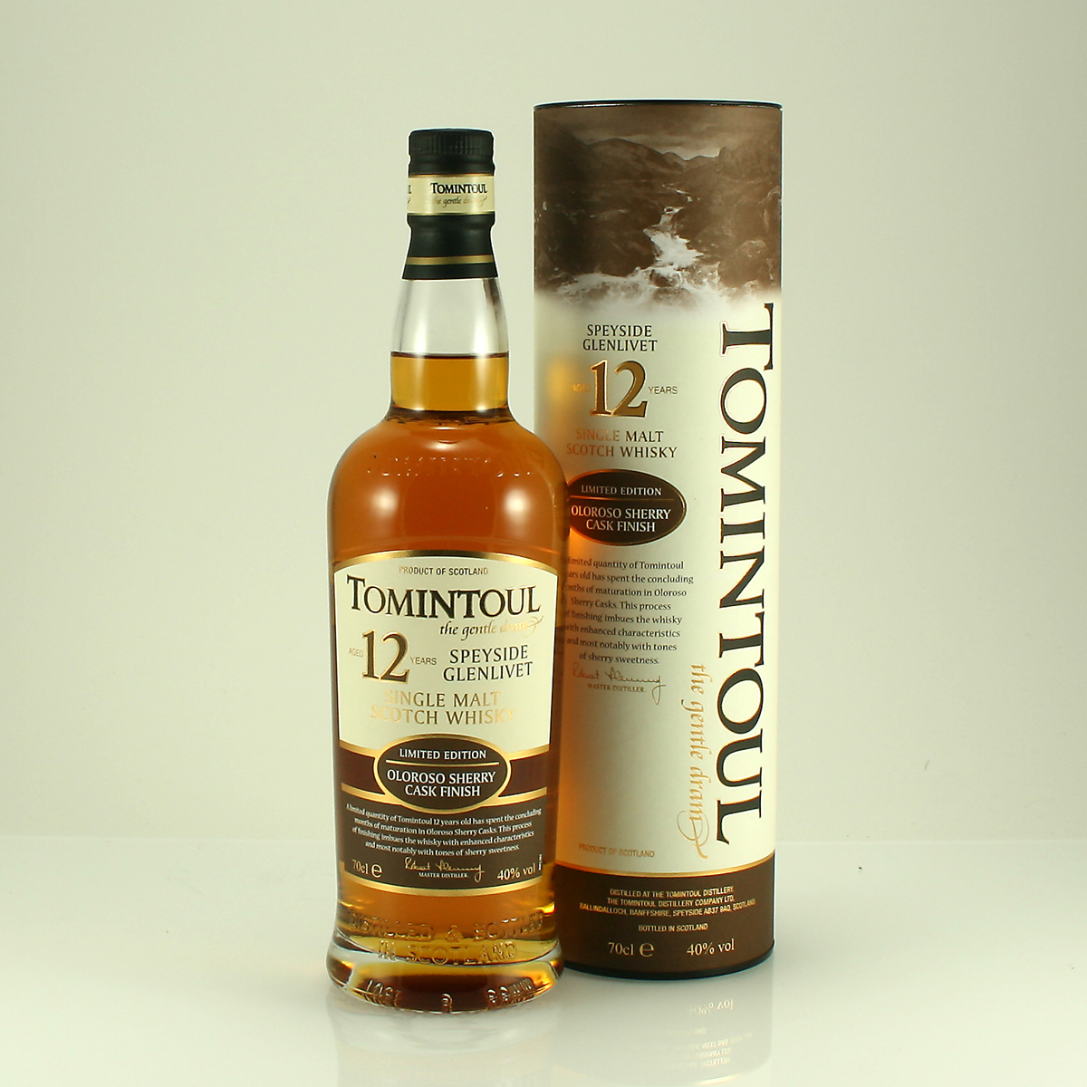 TOMINTOUL 12 Y/O Oloroso Sherry Finish 40% 70cl