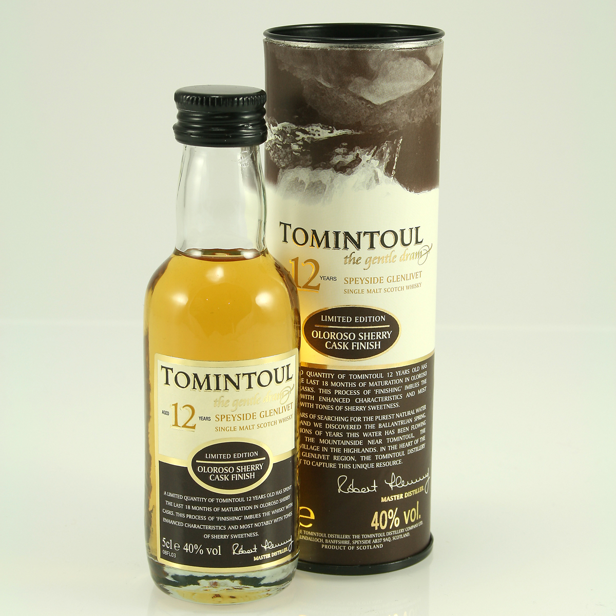 TOMINTOUL 12 Y/O Oloroso Sherry Finish 40% 5cl