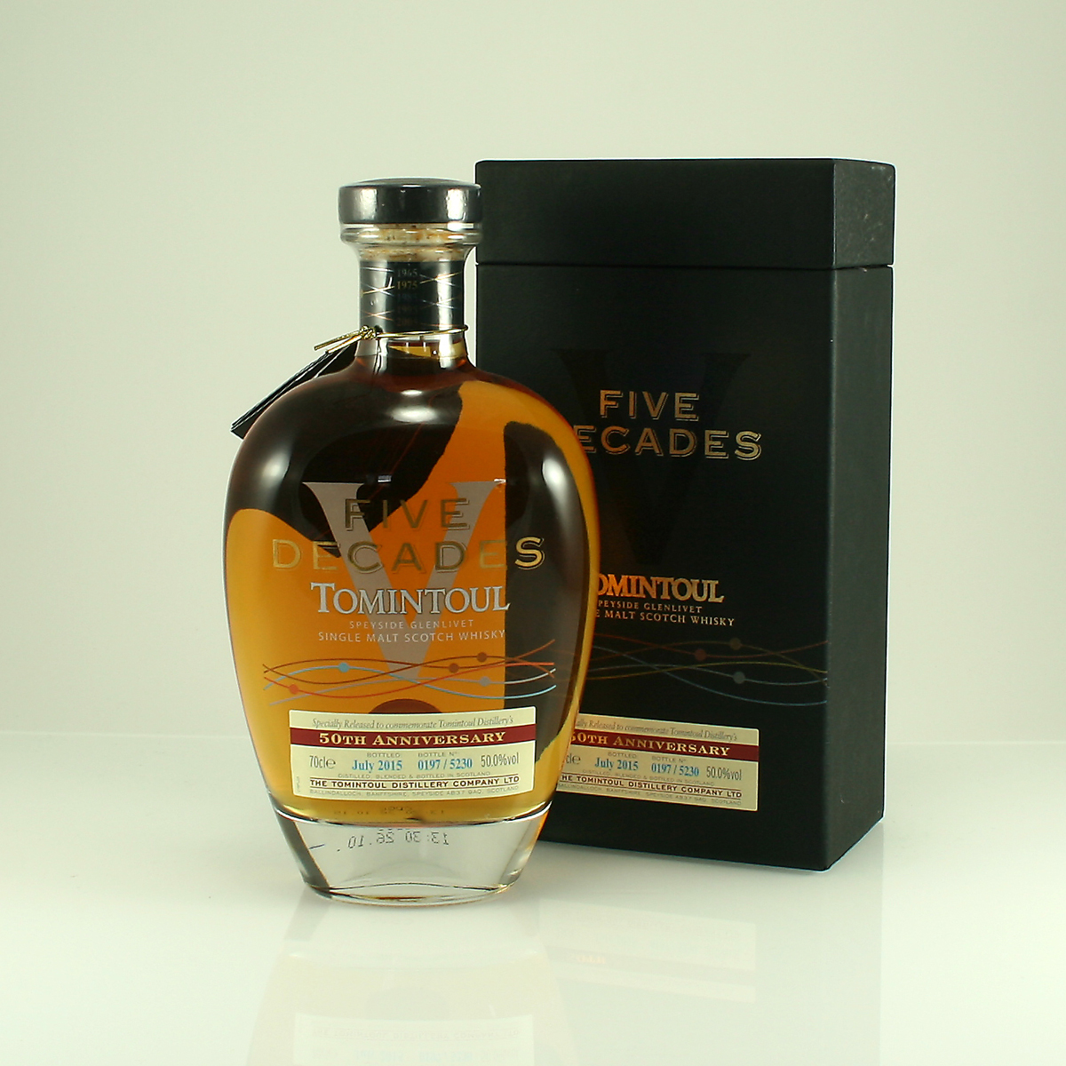 TOMINTOUL FIVE DECADES 50th Anniversary Bottling 50% 70cl