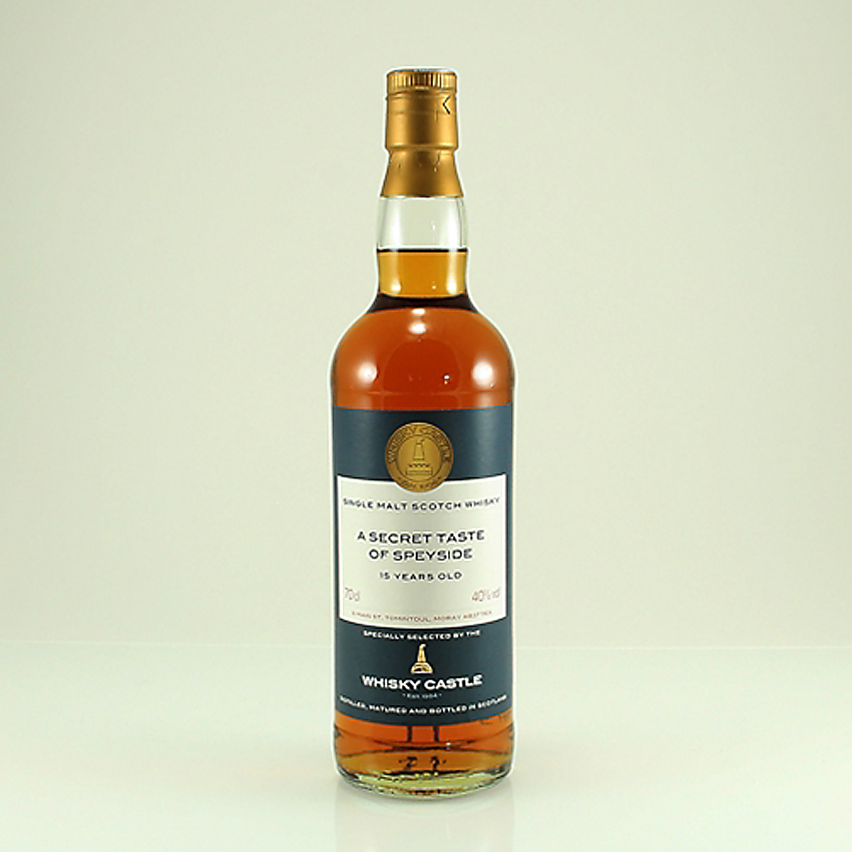 A SECRET TASTE OF SPEYSIDE 15 Y/O Whisky Castle Bottling 40% 70cl